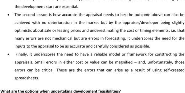 Property Development Appraisal Spreadsheet In An Evaluation Of Real Estate Development Feasibility Software