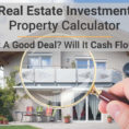 Property Development Cash Flow Spreadsheet Throughout Real Estate Calculator For Analyzing Investment Property