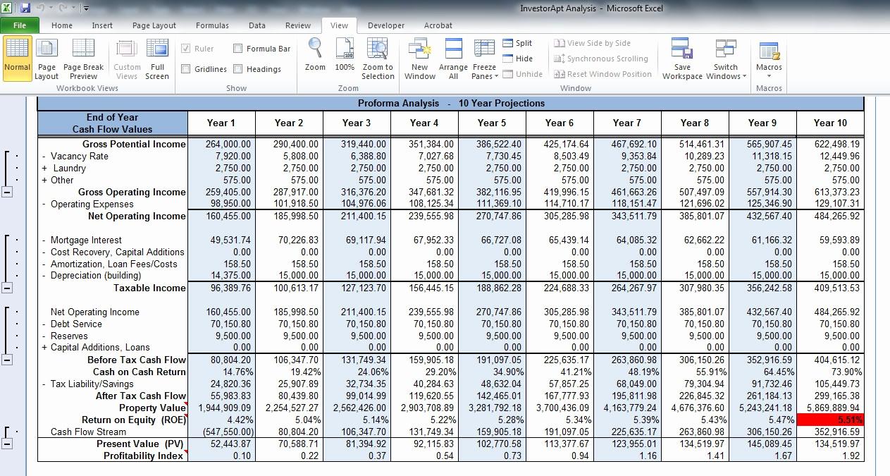 Property Evaluator Spreadsheet For Property Evaluator Spreadsheet Rentaltion Free Roi Investment