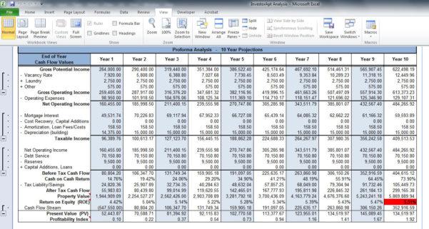 Property Investment Analysis Spreadsheet Within Rental Property Investment Analysis Spreadsheet  Homebiz4U2Profit