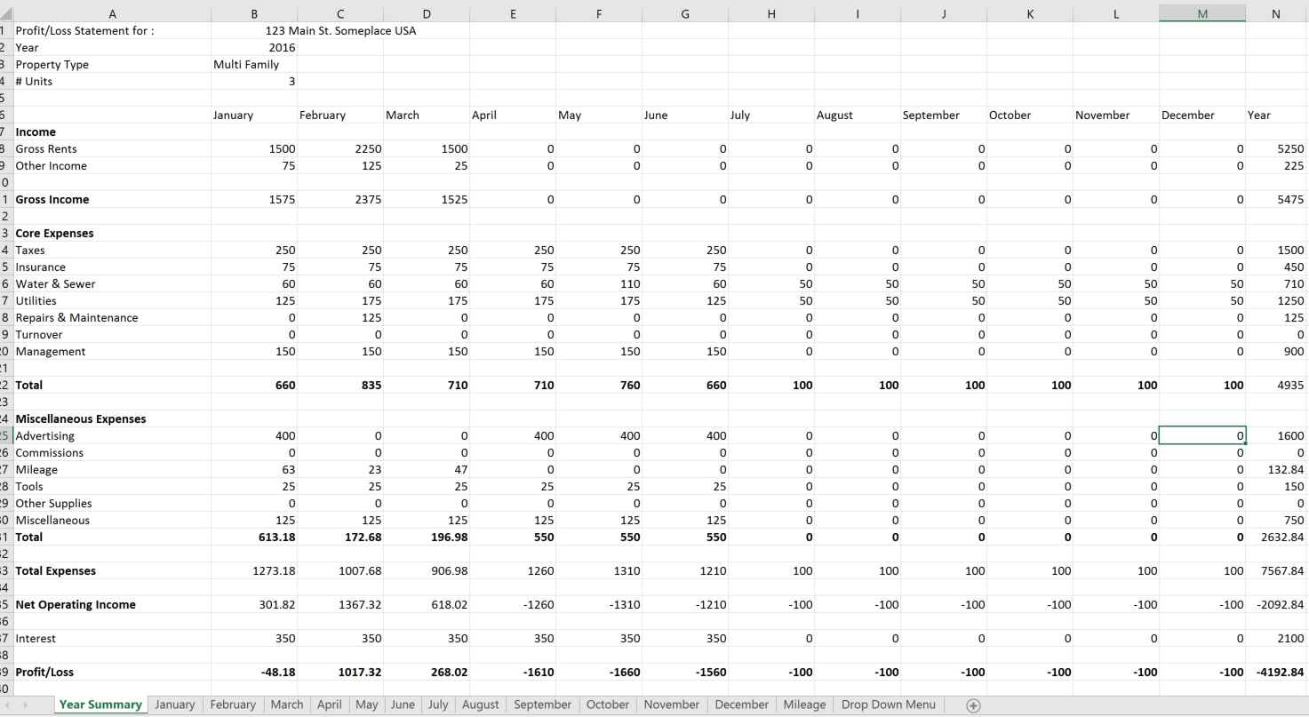 Property Management Excel Spreadsheet Free Pertaining To The Great Battle: Excel Vs Online Property Management Software