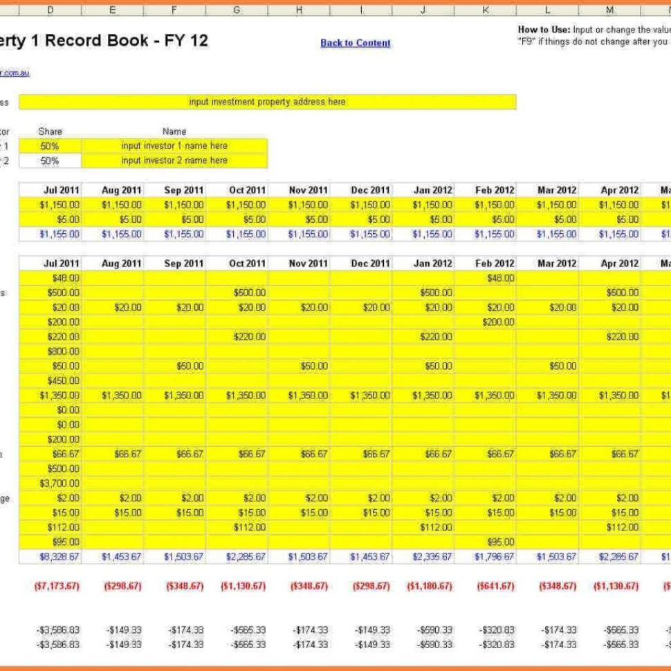 Property Management Excel Spreadsheet Inside 6  Property Management Excel Spreadsheet  Costs Spreadsheet