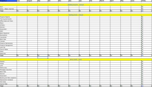 Property Management Excel Spreadsheet Regarding Property Management Expenses Spreadsheet Free Investment Excel For