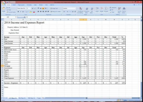 Property Management Expense Spreadsheet In Rental Property Expense Tracking Spreadsheet  Homebiz4U2Profit