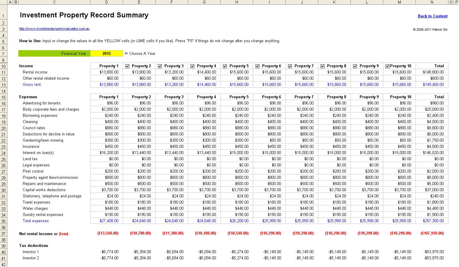 Property Management Spreadsheet Free Download For Free Rental Property Management Spreadsheet In Excel