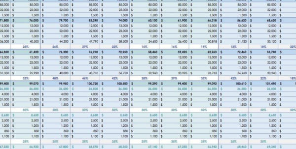 Proposal Spreadsheet Intended For Proposal Tracking Software And Proposal Spreadsheet Template