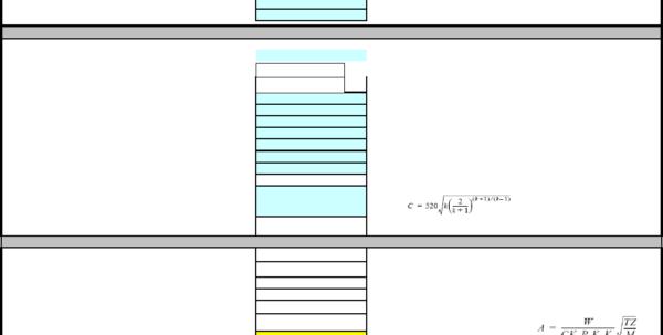 Psv Sizing Spreadsheet Intended For Psv Pressure Safety Valve Sizing Calculation Rev 01 Xls