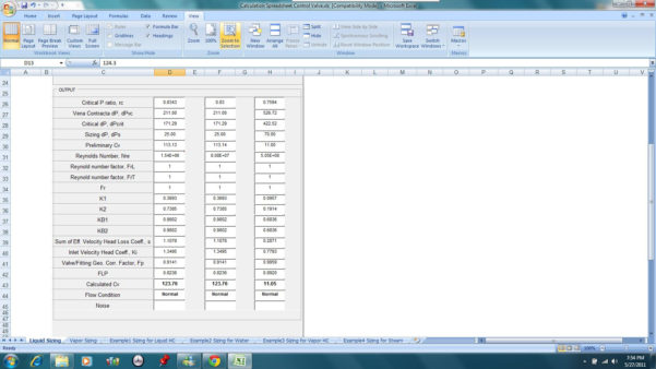 Psv Sizing Spreadsheet Regarding Welcome To Klm Technology Group  Engineering Design Guidelines