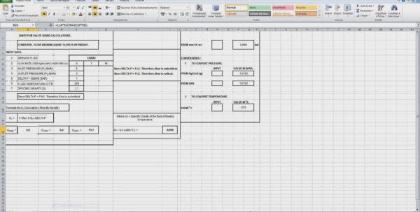 Psv Sizing Spreadsheet With Xlsexcelmais De 1.400 Projetos Prontos Para Excel Api Datasheets