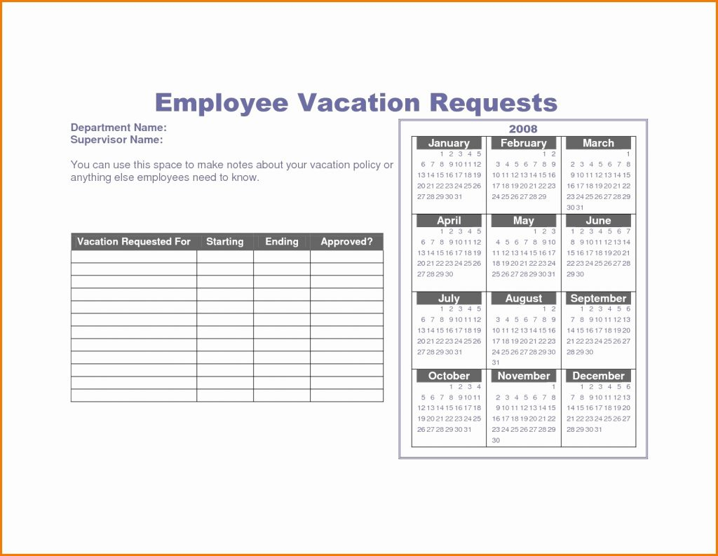 Pto Tracking Spreadsheet In Vacation Tracking Spreadsheet Free Template Employee Tracker Day