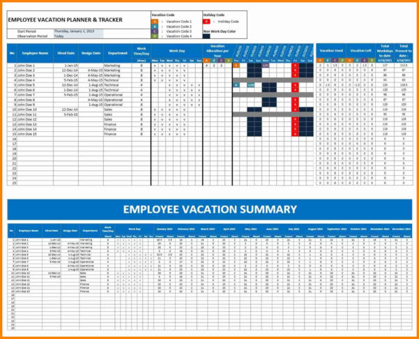 Pto Tracking Spreadsheet Intended For Vacation Tracking Spreadsheet Or Tracker Template With Free Plus
