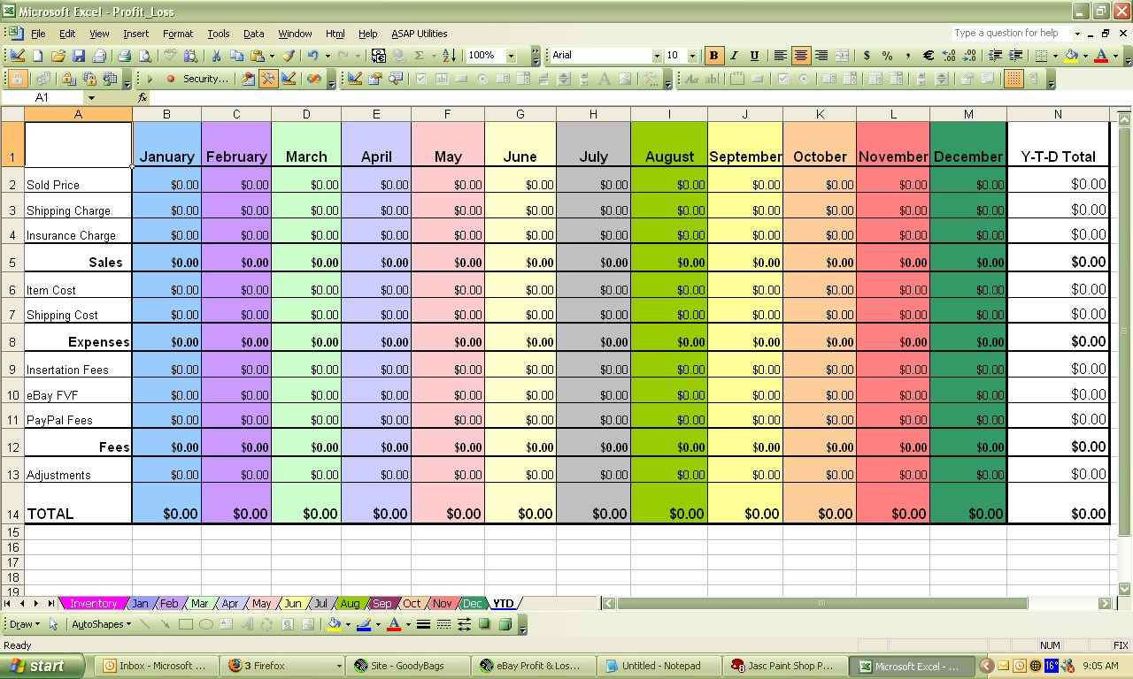 Punters Club Spreadsheet Inside P And L Spreadsheet  Natural Buff Dog