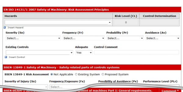 Puwer Risk Assessment Spreadsheet Pertaining To Machinery Risk Assessments  Iss Safety