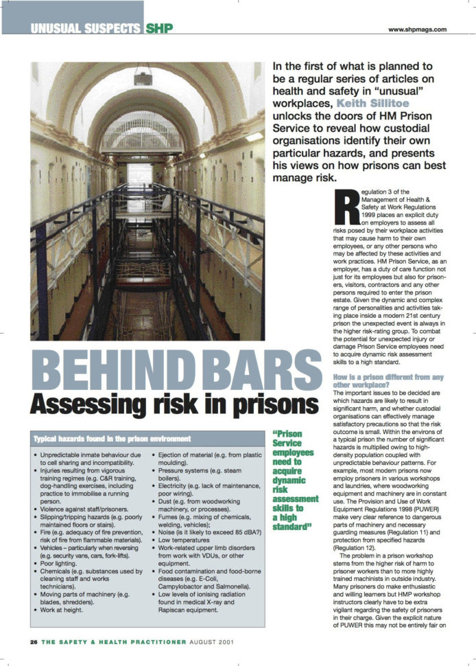 Puwer Risk Assessment Spreadsheet Within Throwback Thursday: Prison Risk Assessments