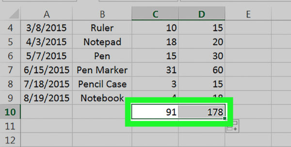Quantity Surveyor Excel Spreadsheets With How To Drag And Copy A Formula In Excel: 4 Steps With Pictures