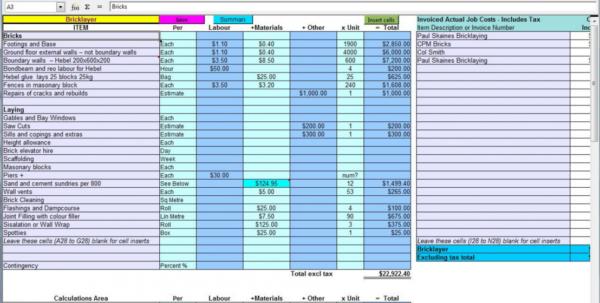 Quantity Takeoff Spreadsheet Within Construction Material Takeoff Spreadsheet And Quantity Takeoff Sheet