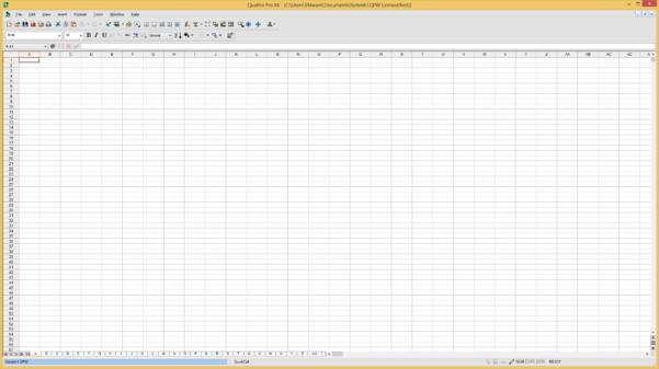 Quattro Spreadsheet In Corel Quattro Pro File Extensions