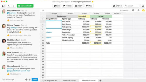 Quip Spreadsheets With Quip Spreadsheets For Teams