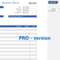 Quotation Spreadsheet Template within Quote Spreadsheet Template [Pro Version]  Excelsupersite