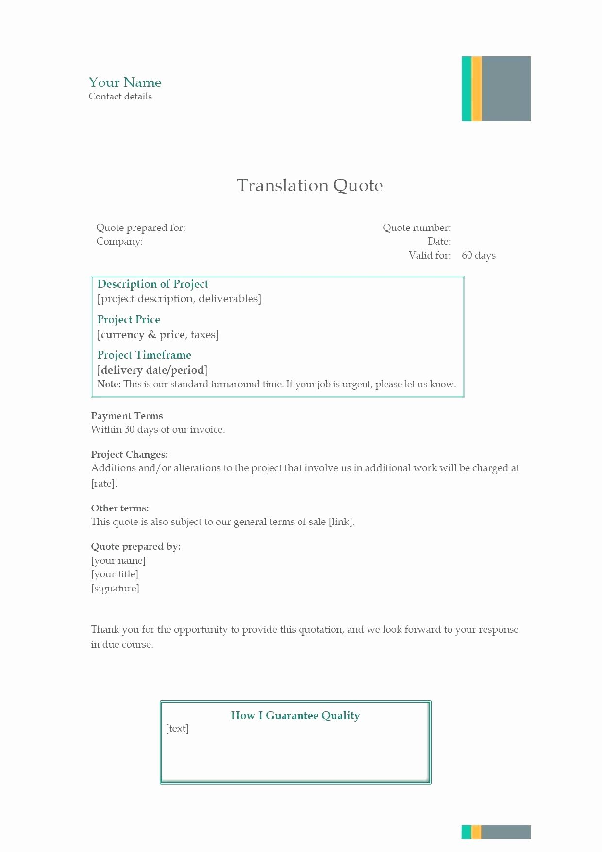 Quotation Tracking Spreadsheet Regarding Excel Quote Template  Glendale Community Document Template
