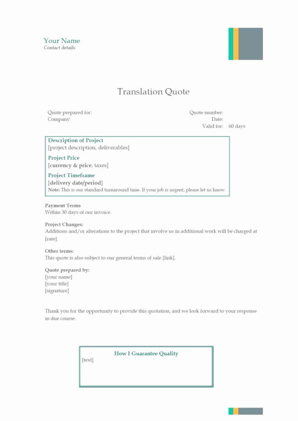 Quote Tracking Excel Spreadsheet For Excel Quote Template  Glendale Community Document Template