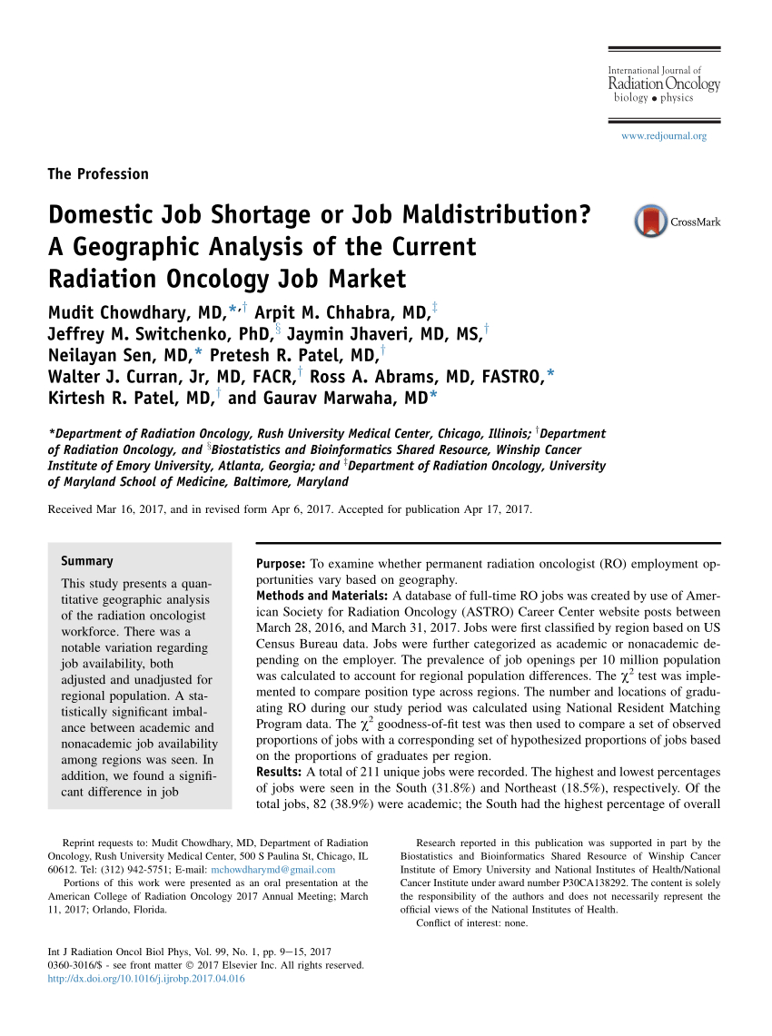 Radiation Oncology Interview Spreadsheet 2017 With Regard To Employment After Radiation Oncology Residency: A Survey Of The Class