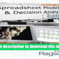 Ragsdale Spreadsheet Modeling Intended For Download]Cliff Ragsdale Spreadsheet Modeling Decision Analysis Ragsdale Spreadsheet Modeling Printable Spreadshee Printable Spreadshee ragsdale spreadsheet modeling and decision analysis pdf