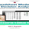 Ragsdale Spreadsheet Modeling Intended For Pdf] Spreadsheet Modeling And Decision Analysis: A Practical Ragsdale Spreadsheet Modeling Printable Spreadshee Printable Spreadshee ragsdale spreadsheet modeling and decision analysis pdf