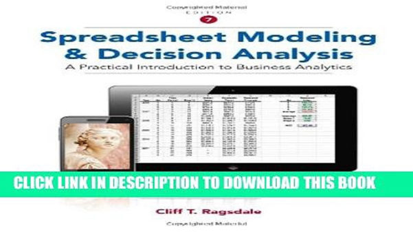 Ragsdale Spreadsheet Modeling Intended For Pdf] Spreadsheet Modeling And Decision Analysis: A Practical