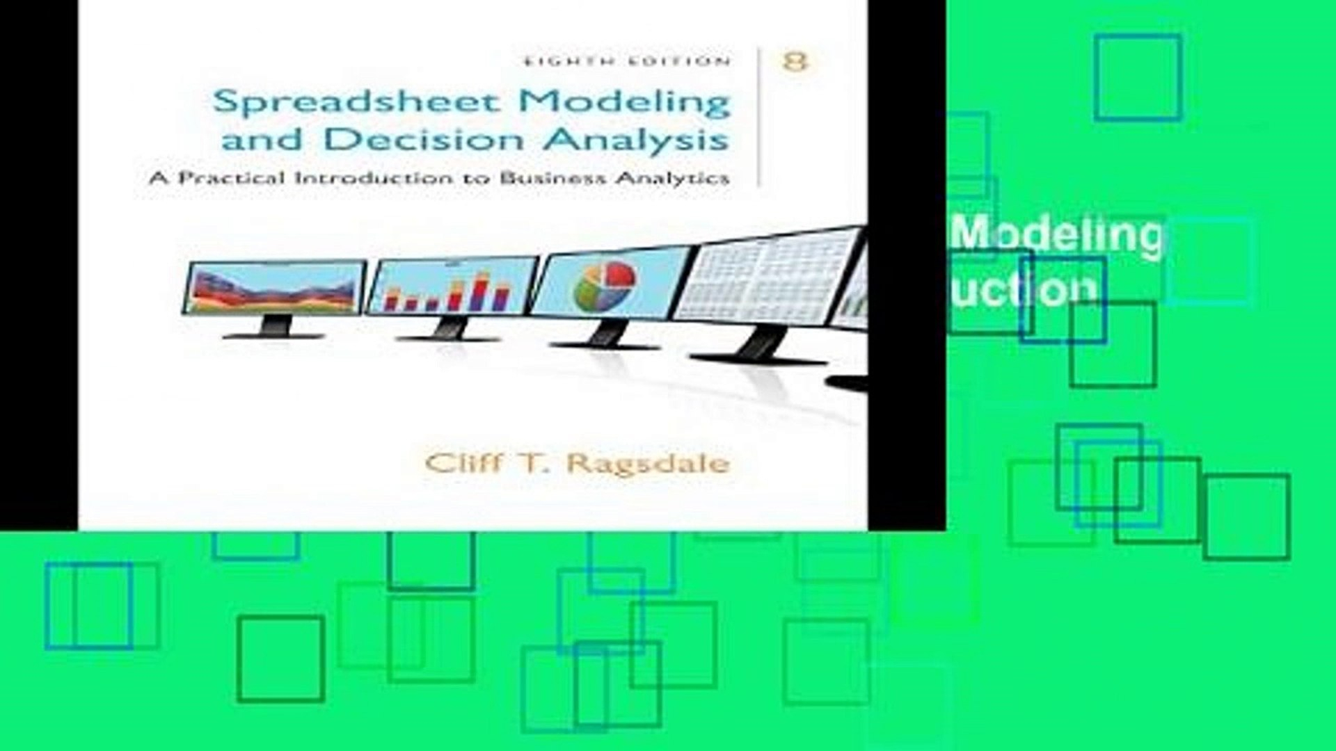 Ragsdale Spreadsheet Modeling Pertaining To D.o.w.n.l.o.a.d [P.d.f] Spreadsheet Modeling Decision Analysis: A
