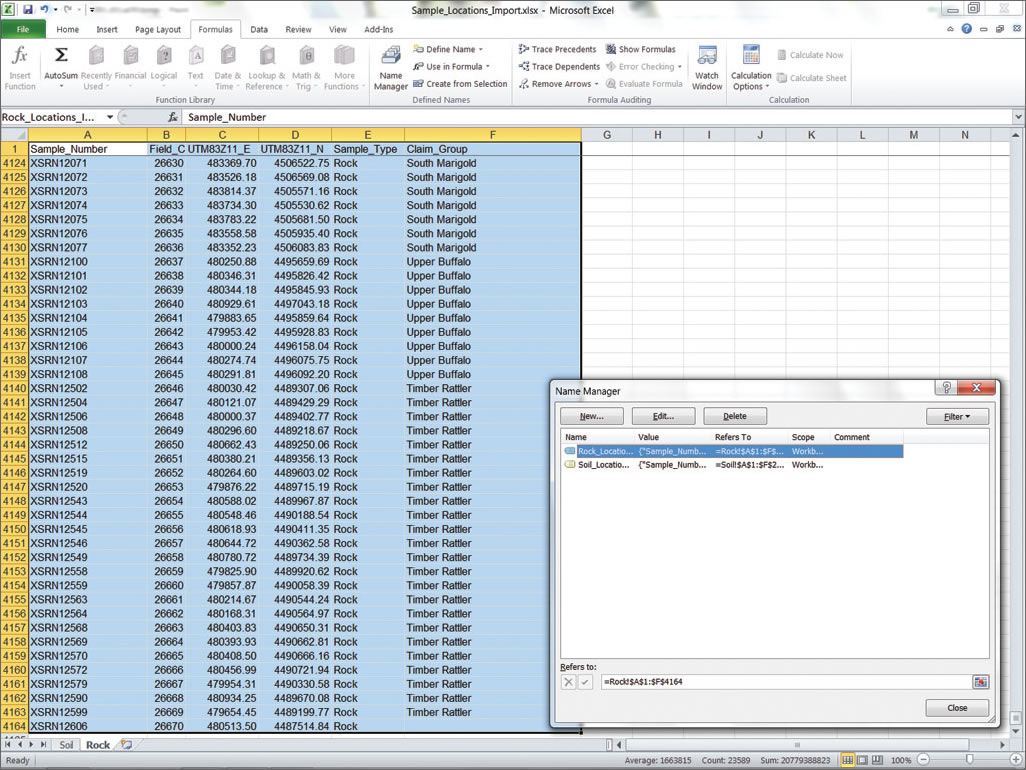 Rainfall Recording Spreadsheet in Importing Data From Excel Spreadsheets