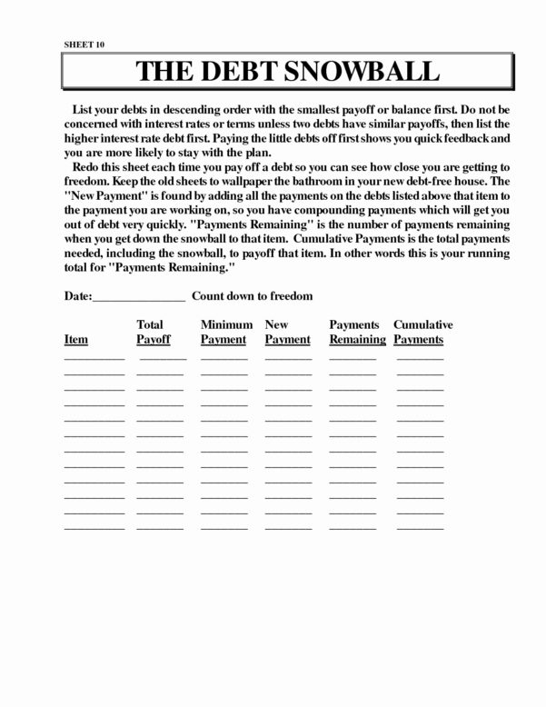 Ramsey Snowball Spreadsheet With Regard To Dave Ramsey Debt Snowball Spreadsheet Inspirational Dave Ramsey