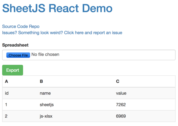 React Spreadsheet With Regard To The Reactjs Demo For Jsxlsx Is Very Unclear To Me · Issue #1172