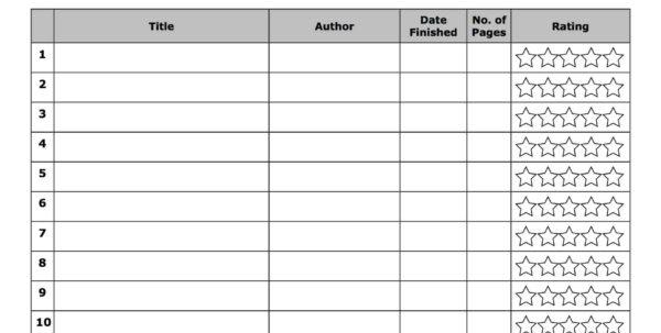 Reading Log Spreadsheet In Book Logs  Kasare.annafora.co