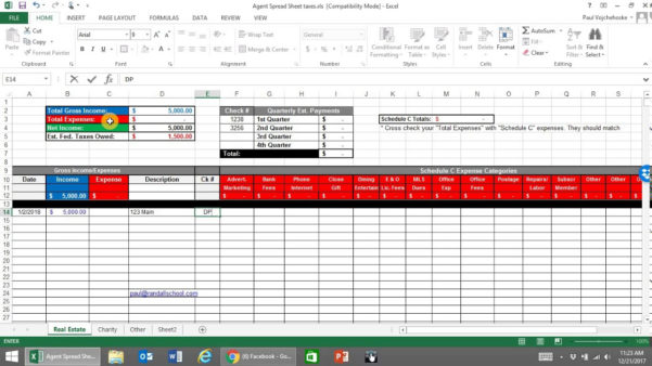 Real Estate Agent Expense Excel Spreadsheet Pertaining To Checklists  Worksheets Archives  Paulvojchehoske