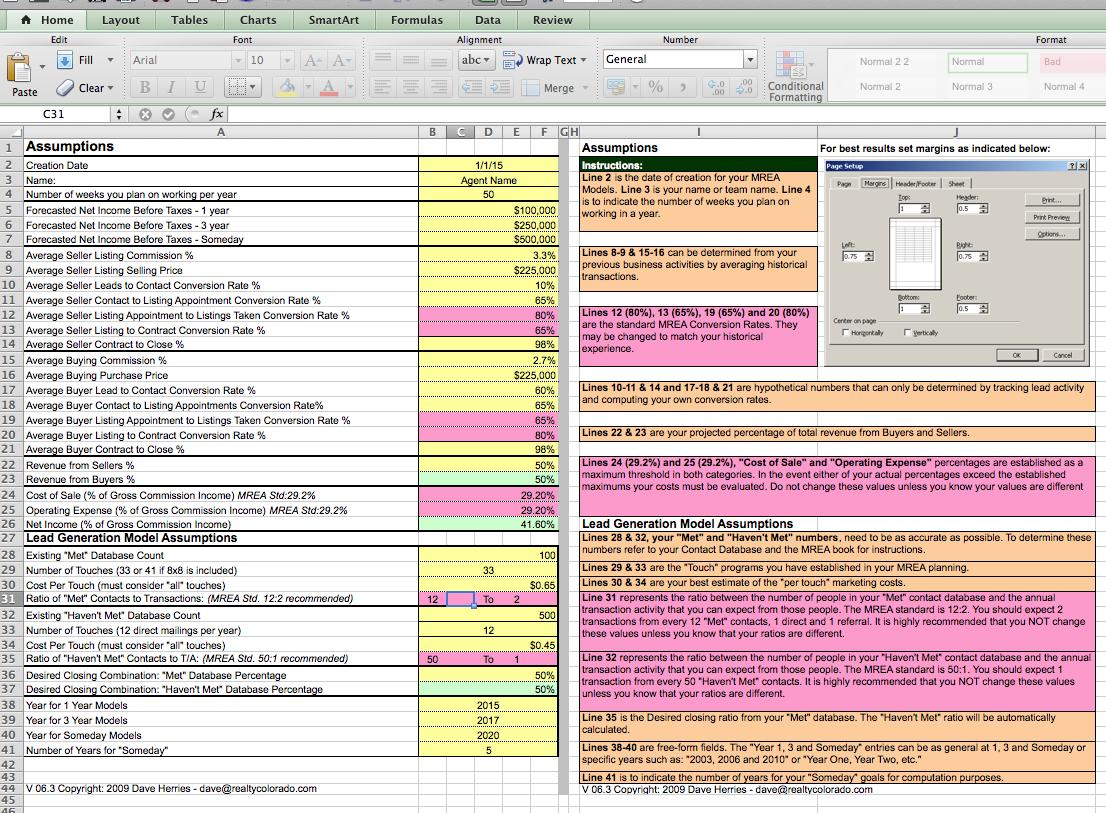 Real Estate Budget Spreadsheet Regarding The Millionaire Real Estate Agent 4 Models Spreadsheet  Keller