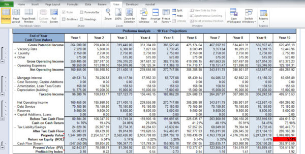 Real Estate Cash Flow Analysis Spreadsheet Within Rental Property Investment Analysis Spreadsheet  Homebiz4U2Profit