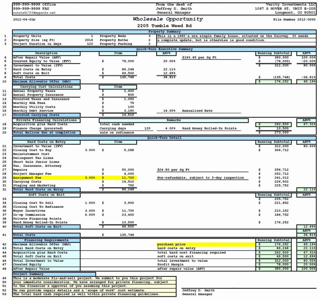 Real Estate Development Analysis Spreadsheet Within 015 Template Ideas Real Estate Excel Templates Escrow Analysis
