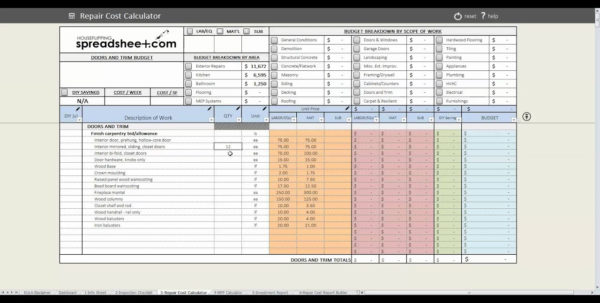 Real Estate Flipping Excel Spreadsheet Within Real Estate Flip Spreadsheet For How To Create An Excel Spreadsheet