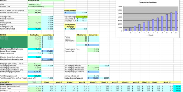 Real Estate Roi Spreadsheet Throughout Real Estateestment Spreadsheet As Software Accounting Residential