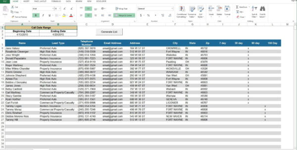 Real Estate Transaction Tracker Spreadsheet Template Pertaining To Example Of Lead Tracking Spreadsheet Real Estate Transaction Tracker