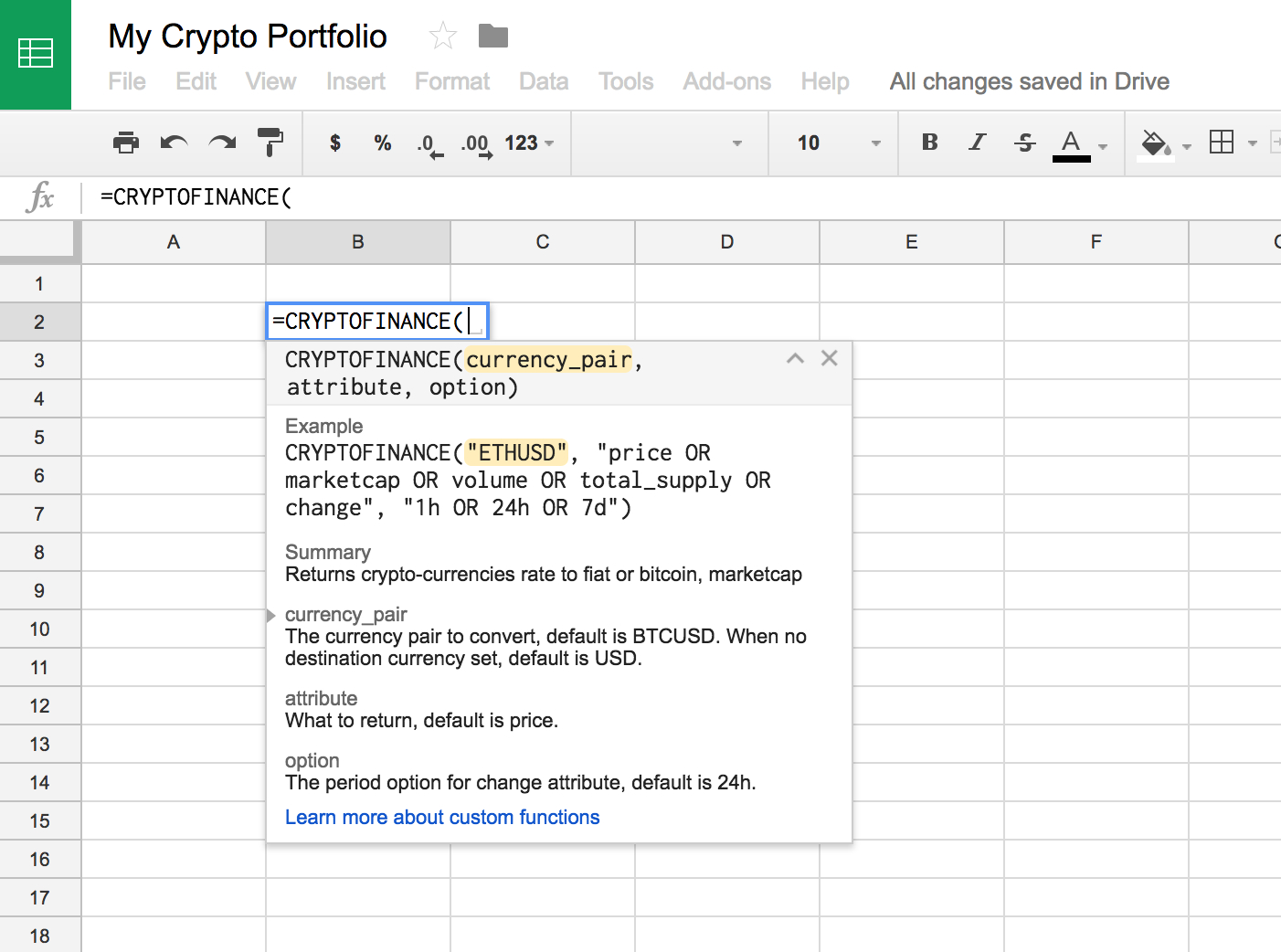 Realdata's Pro Spreadsheet With Regard To Import All Live Cryptocurrency Data Into A Spreadsheet In 5 Minutes