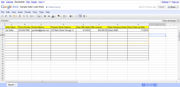 Realtor Tracking Spreadsheet Intended For 3 Ways To Create A Follow Up System For Real Estate Seller Leads