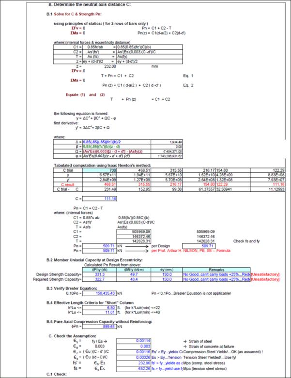 Rebar Development Length Spreadsheet With Reinforced Concrete Design  Engineer's Outlook