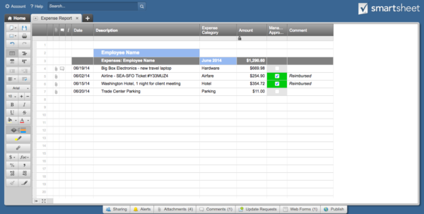 Receipt Spreadsheet Template Regarding 13 Free Business Receipt Templates Smartsheet