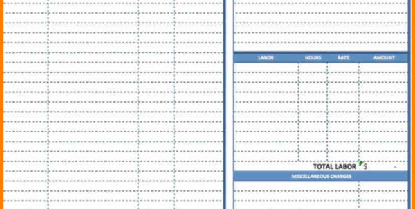 Receipt Spreadsheet Template Within General Contractor Invoice Template Free Receipt Form Example