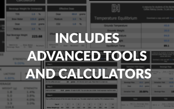Refractometer Calculator Spreadsheet Within Advanced Coffee Making Course  Certification
