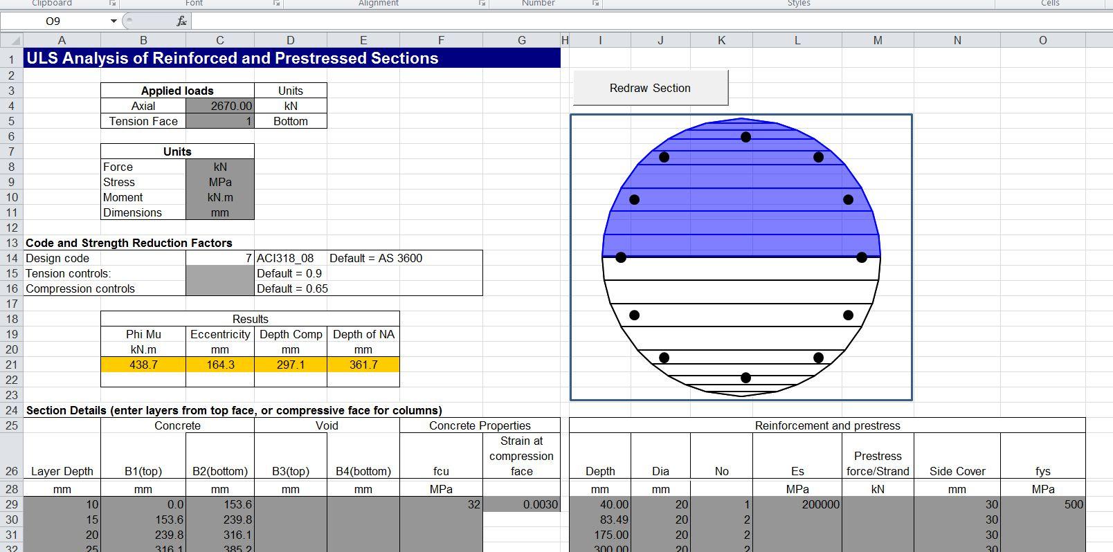 Reinforced Concrete Column Design Spreadsheet Intended For Reinforced Concrete Column Design Spreadsheet Free Download Excel