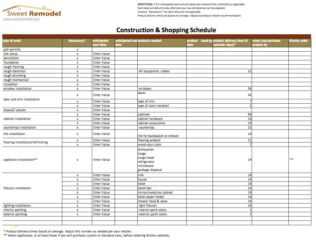 Remodeling Budget Spreadsheet Excel In House Construction Estimate Spreadsheet India With Residential