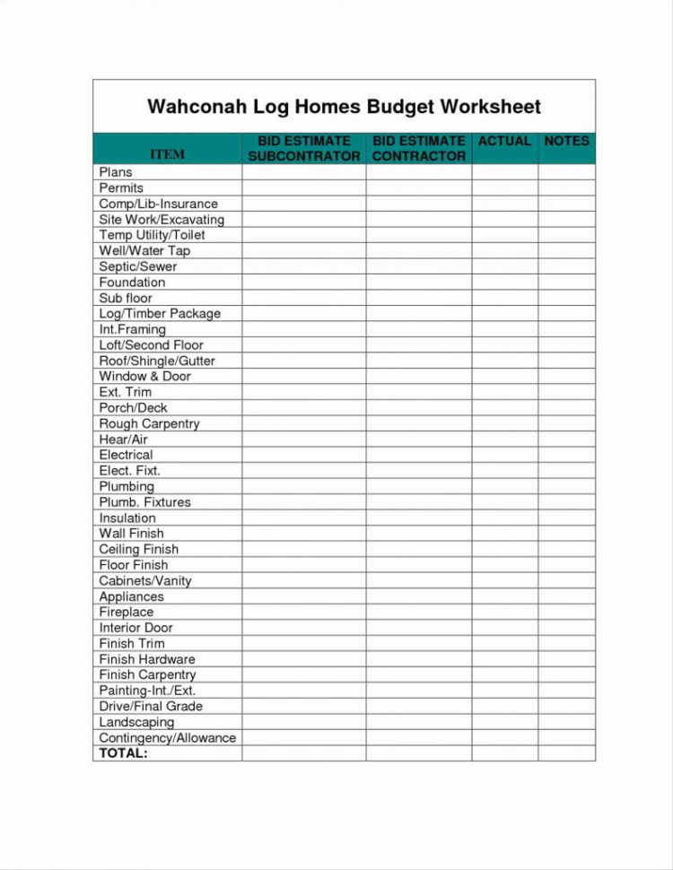 Renovation Budget Spreadsheet With House Renovation Budget Planner Cost Excel Template